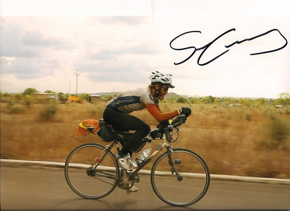 Sean Conway - Round Britian Cycle - 10 x 8 Autographed Picture