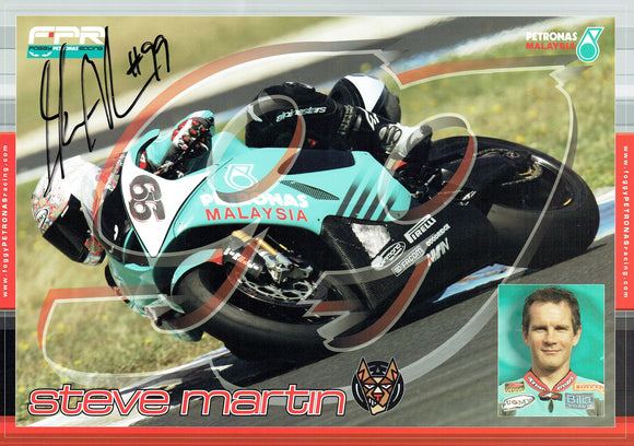 Steve Martin - World Superbikes - 12 x 8 Autographed Print
