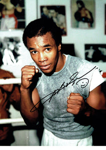 Sugar Ray Leonard - 16 x 12 Autographed Picture