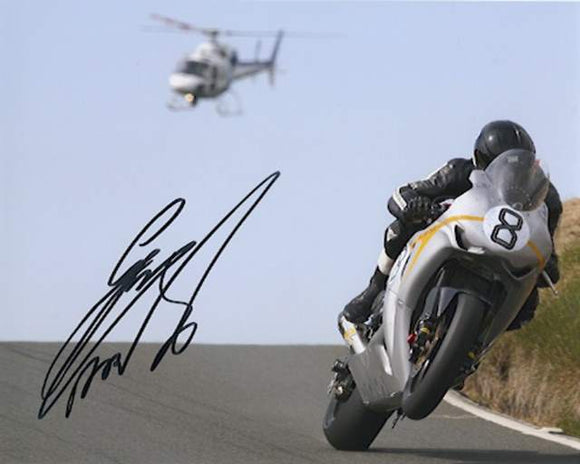 Guy Martin - Kates Cottage - TT 2010 - 10 x 8 Autographed Picture