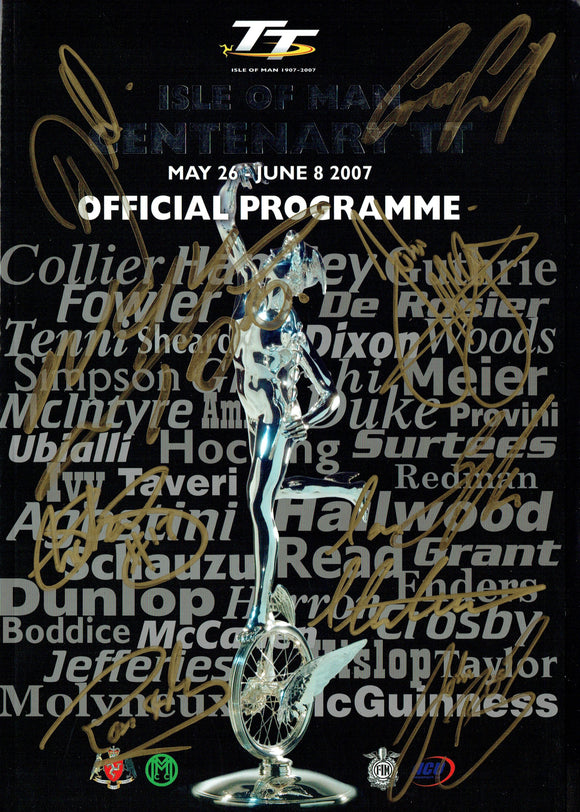 2007 Isle of Man TT Multi Signed Programme - 2