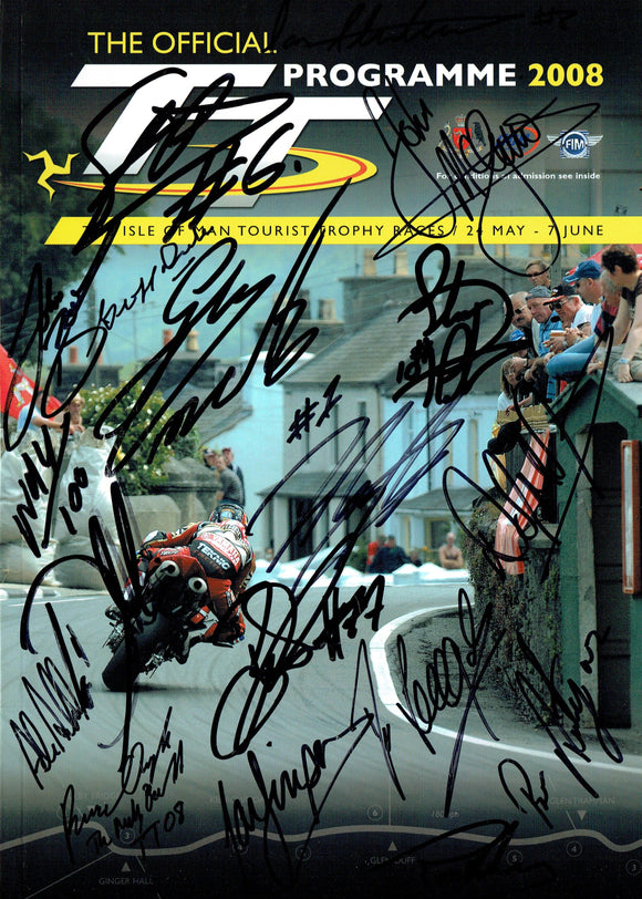 2008 Isle of Man TT Multi Signed Programme - 2
