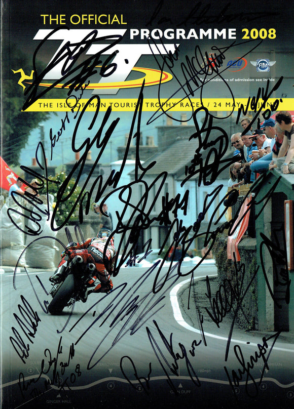 2008 Isle of Man TT Multi Signed Programme - 1
