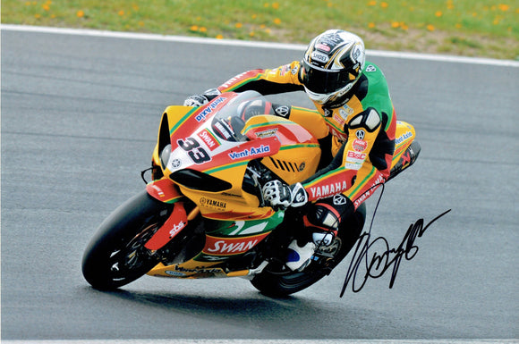 Tommy Hill - British Superbikes - 2011 - 12 x 8 Autographed Picture