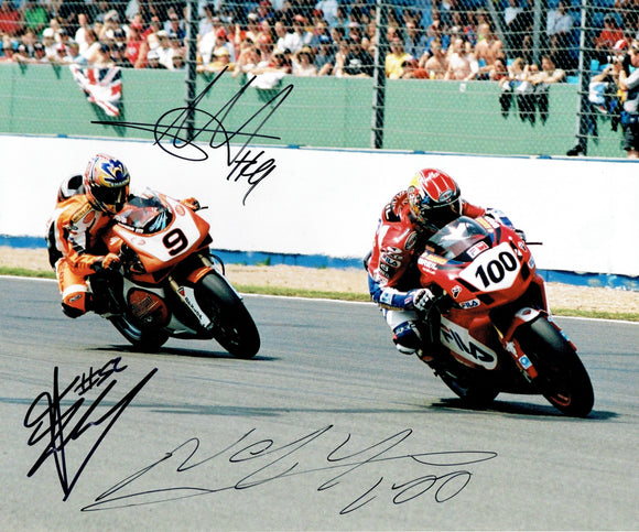 Neil Hodgson, James Tosleland & Chris Walker - World Superbikes - 2003 season - 12 x 10 Autographed Picture