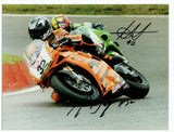 Chris Walker & Troy Bayliss - World Superbikes - 16 x 12 Autographed Picture