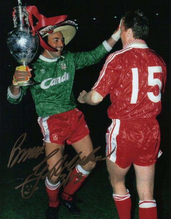 Bruce Grobbelaar - Liverpool - 1990 League Champion - 12 x 8 Autographed Picture