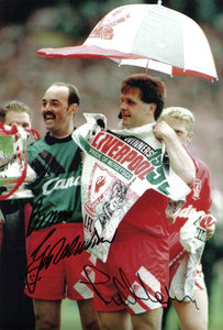 Bruce Grobbelaar & Jan Molby - Liverpool - 1992 F.A. Cup Winner - 12 x 8 Autographed Picture