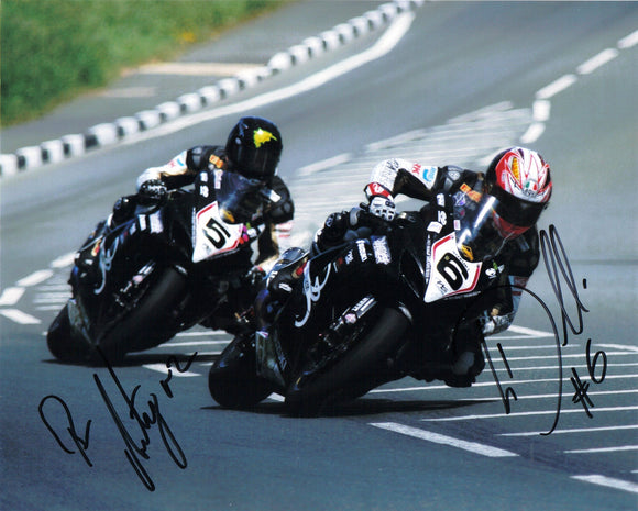Bruce Anstey & Cameron Donald - Bedstead - TT 2008 - 10 x 8 Autographed Picture