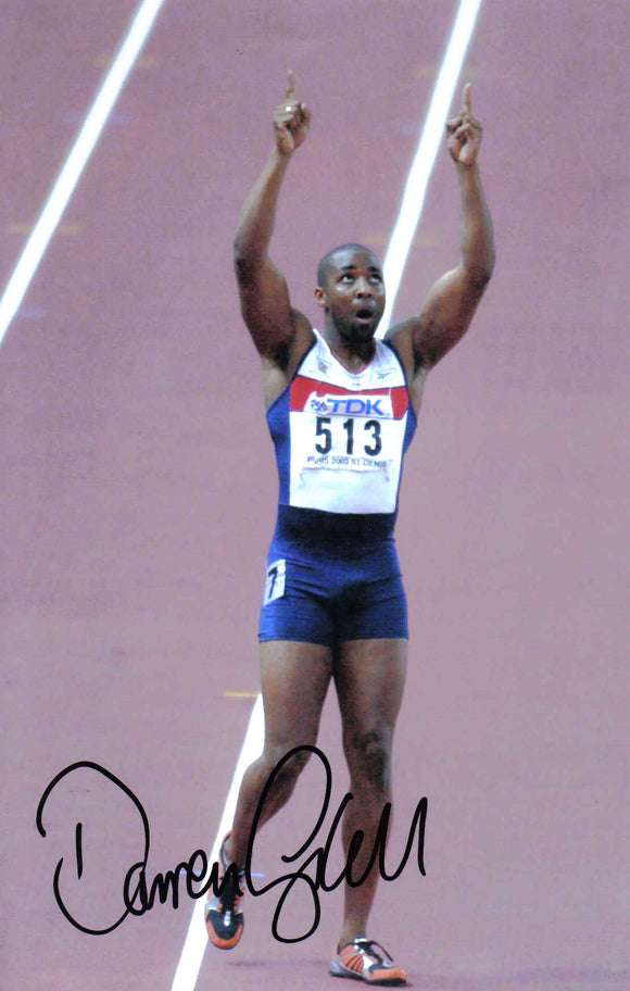 Darren Campbell M.B.E - Olympic Champion - 10 x 8 Autographed Picture