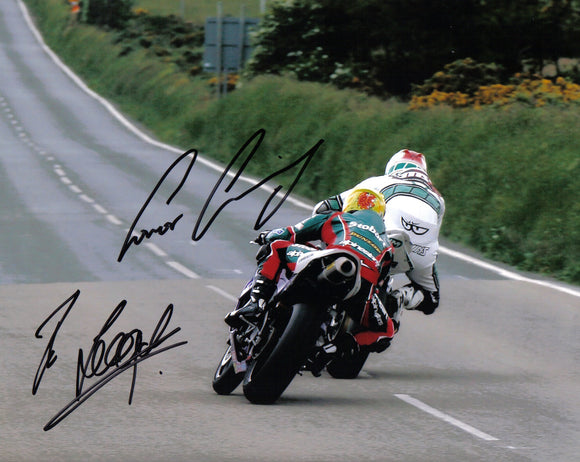 Ian Lougher & Conor Cummins - Creg Ny Baa - TT 2007 - 16 x 12 Autographed Picture