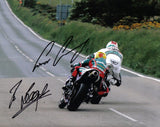 Conor Cummins & Ian Lougher - Creg Ny Baa - TT 2007 - 16 x 12 Autographed Picture