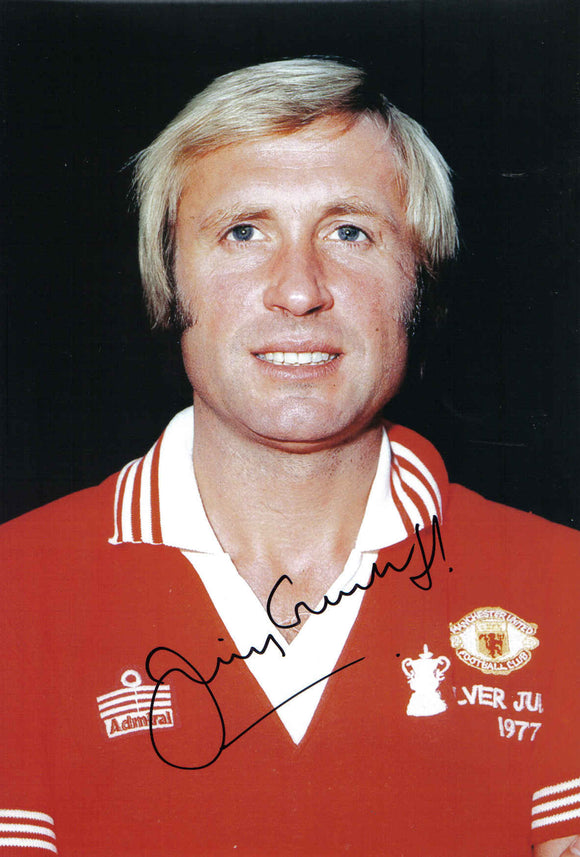 Jimmy Greenhoff - Manchester United - 10 x 8 Autographed Picture