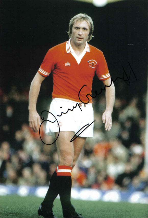 Jimmy Greenhoff - Manchester United - 12 x 8 Autographed Picture