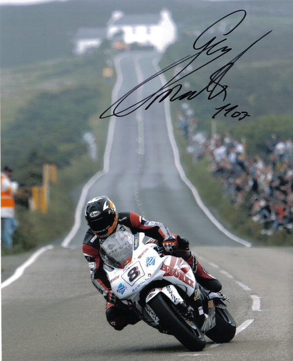 Guy Martin - Creg Ny Baa - TT 2007 - 16 x 12 Autographed Picture