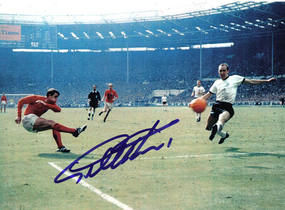 Geoff Hurst - 1966 World Cup Final - 10 x 8 Autographed Picture