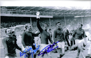 Geoff Hurst & Nobby Stiles - 1966 World Cup Final - 12 x 8 Autographed Picture