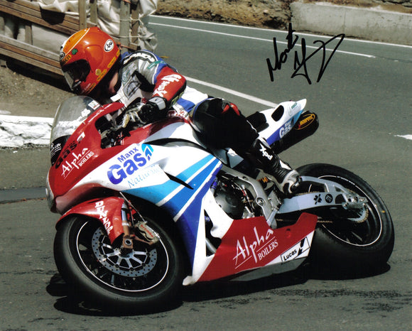 Martin Finnegan - Governors Bridge - TT 2007 - 10 x 8 Autographed Picture