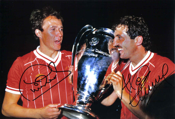 Phil Neal & Alan Kennedy - Liverpool F.C. - 1984 European Cup Winners - 12 x 8 Autographed Picture