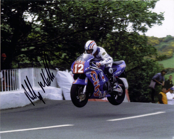Philip McCallen - Ballaugh Bridge - TT 1996 - 10 x 8 Autographed Picture