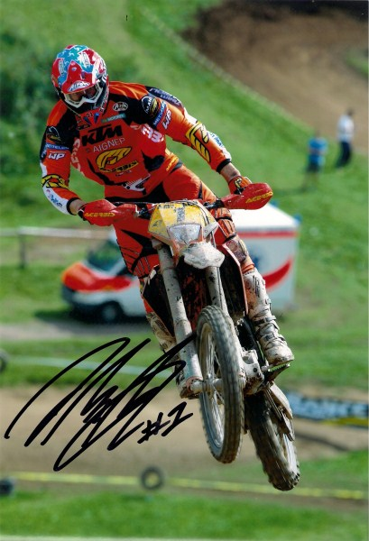David Knight - World Enduro Champion - KTM 1 - 12 x 8 Autographed Picture