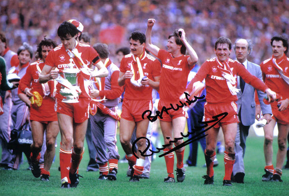 Ronnie Whelan - Liverpool F.C. - 1986 F.A. Cup Winner - 12 x 8 Autographed Picture