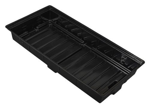 Flo-n-Gro Easy Clean Tray - 2 ft x 4 ft OD - Black