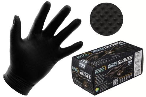 Grower's Edge Black Powder Free Diamond Textured Nitrile Gloves 6 mil - X-Large