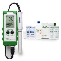 GroLine Waterproof Portable pH/EC/TDS/Temperature Hydroponics Meter Kit