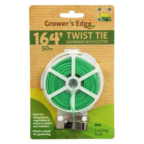 Grower's Edge Twist Tie Dispenser w/ Cutter - 164 ft