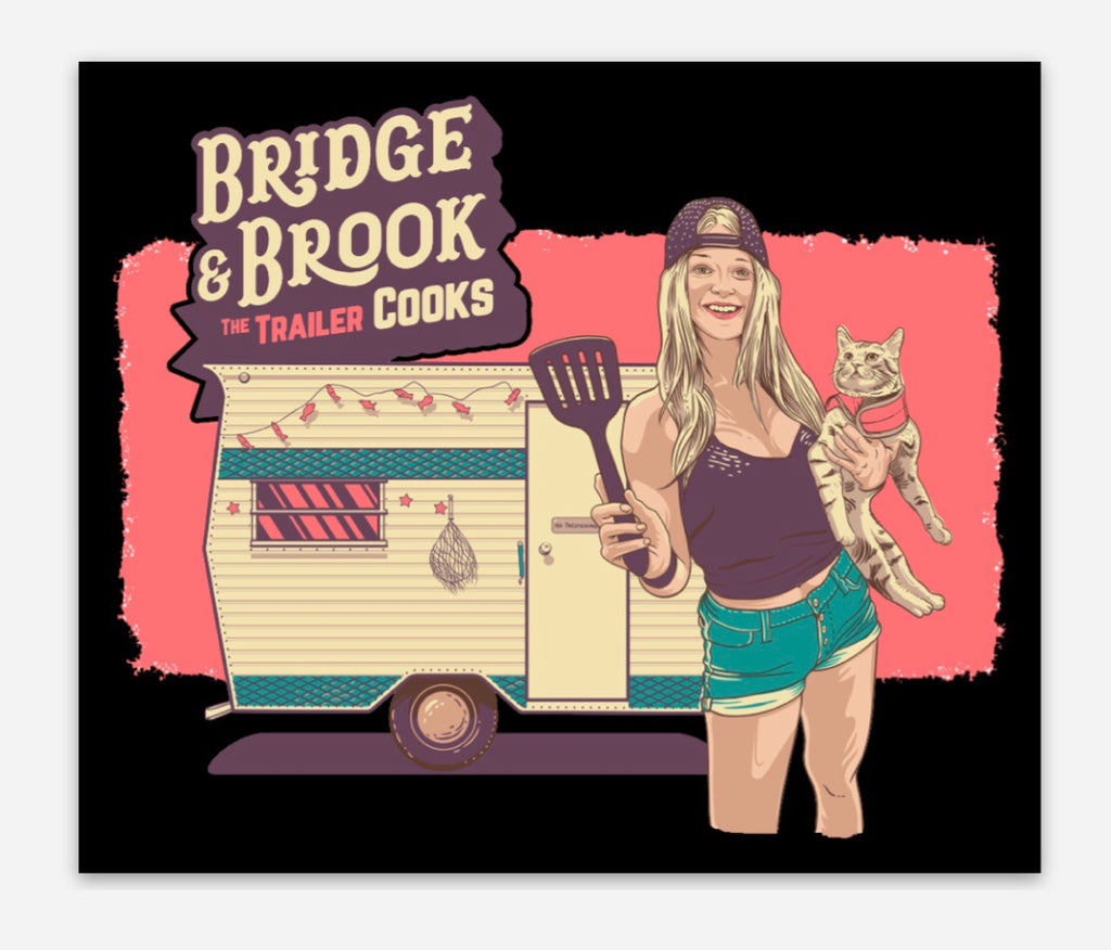 Bridge & Brook the Trailer Cooks Rectangle Sticker