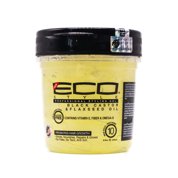 Eco Style Gel Black Caster & Flaxseed Oil