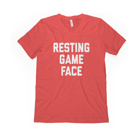 Resting Game Face V-Neck Tee