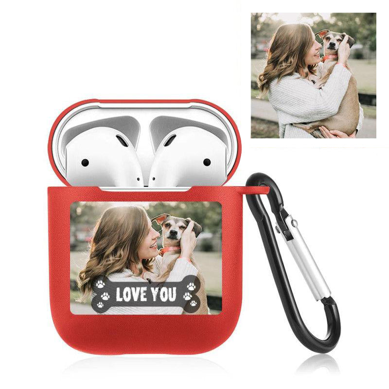 Custom Airpod Case With Keychain • Personalized Airpod Case • Name Photo Airpod Case