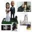 Handmade Wedding Bobblehead, Custom 3D Polymer Clay Figurines Wedding Couple Bobble head Dolls, Personalized Wedding Cake Toppers