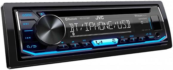 JVC KDTD70BT Single Din CD Player AM/FM/CD/BT/USB