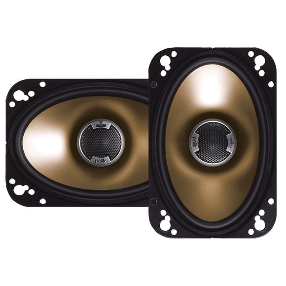Polk Audio DB461 4-by-6-Inch Coaxial Speakers (Pair, Black)