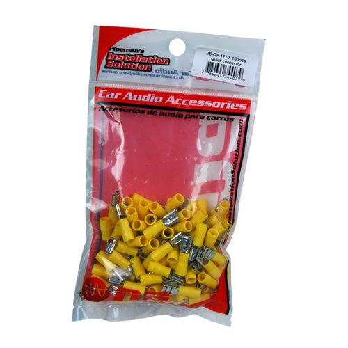 PIPEMAN IQF1210 Quick Disconnect 10/12ga. Yellow (100 pack)