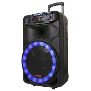 "Maxpower MPD15EQ Single 15"" Woofer w/ Rechargeable battery front Equalizer"