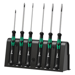 Wera 05118152001 2035/6 Kraftform MicroSlotted Phillips Screwdriver Set Rack 6p