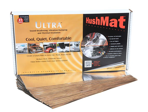 Hushmat 10401 Floor/Dash Kit Silver; 20 Sheets; 12 in. x 23 in.; 38.75 sq. ft.