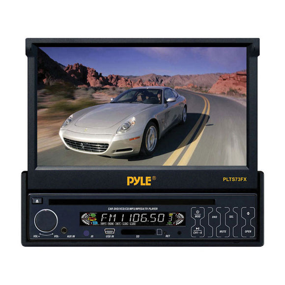 Pyle PLTS73FX 7-Inch Single DIN In-Dash Motorized Touch Screen TFT/LCD Monitor with DVD/CD/MP3/MP4/USB/SD/AM-FM Player