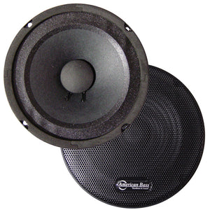 "American Bass SQ6 6.5"" 300 Watt 8 Ohm Mid Range Speaker"