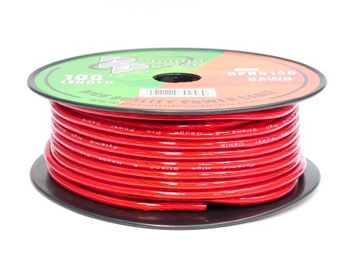 Pyramid RPR8100 8 Gauge 100 FT. Red Gold Series Pro Max Wire