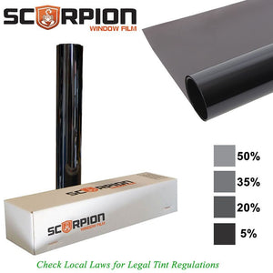 "Scorpion PSD15C36 Window Tint Predator Series 2 ply 15% 36""x 100' roll Deep Dye 3rd Gen."
