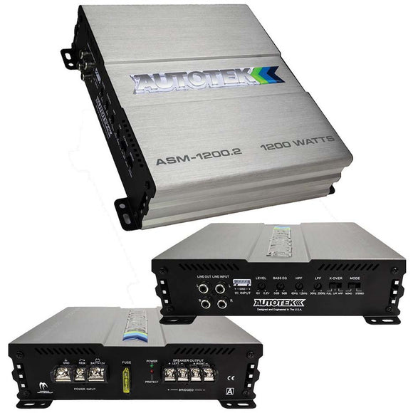 Autotek ASM12002 Amp 1200 Watt 2 Channel Amplifier
