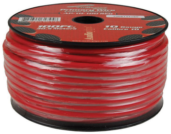 Audiopipe AP10100RD 10 Gauge 100Ft Primary Wire Red