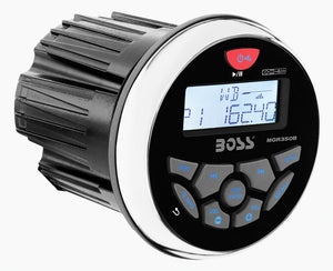 Boss Audio MGR350B Marine-Gauge In-Dash Mechless AM/FM Receiver with Bluetooth