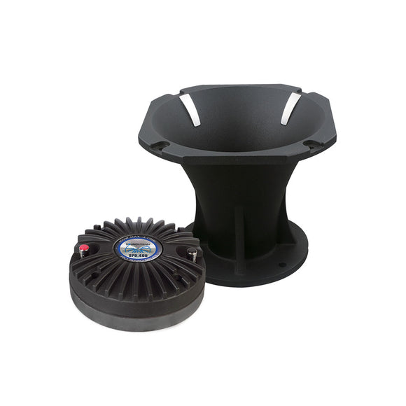 SoundStream SPD400 Compression Driver Tweeter w/ Large Aluminum Horn (Each) 400w