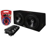 "AUDIOPIPE Audio 2) 12"" Subs/Car Amplifier/Amp Kit/Box"